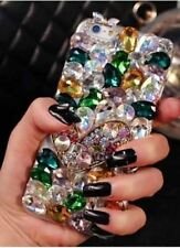 NEW DELUX COOL LUXURY BLING SILVER GOLD DIAMANTE CASE FOR VARIOUS MOBILE PHONE