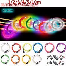 Flexible 1/2/3/4/5/10/20M LED Flash Neon Light Glow EL Strip Tube Wire Rope Car