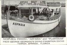 Tarpon Springs FL Deep Sea Fishing BoatAspasia & Plastiras Postcard