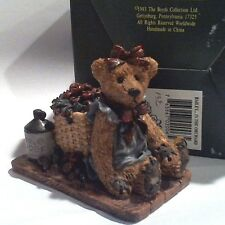 """Boyds Bears, Bearstone Ret 1996 """"Bailey ...in the Orchard"""" w/ Original Box"""