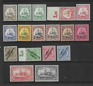 Collection of MINT German South West Africa stamps.