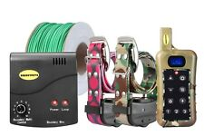 Remote 2 Dog Training Shock Collar Underground Electric Containment Fence Combo
