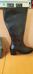 Leather High Leg Boots Extra Wide EEE Fit Super Curvy Calf Width (Marks) - UK7