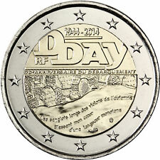 "France 2 euro coin 2014 ""D-Day 70 years ago"" UNC"