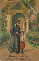 10 Commandments PFB~Remember Sabbath Day~Keep Holy~Mom, Daughter Leave Church