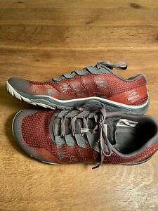 Merrell Men's Trail Glove 5 Running Shoes Sneakers Grey Red Size 9 (fits 9.5)