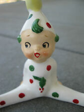 Vintage  Pixie Elf Sprite Polka Dot w Holly & Berries christmas  Japan A0108