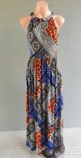 ❤️ NEW LOOK Sleeveless Maxi Dress Multicolor Print Size 8 Buy7=FreePost L643