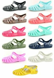 F0R711- Ladies Spot On Retro Jelly Shoes/Sandals- Various Colours.