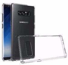 For Samsung Galaxy Note 8 - Hard Rubber Gummy Phone Case Cover Transparent Clear