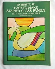 East-To-Make Stained glass PANELS full size templates for 32 projects. Pristine!