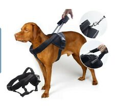 Yoga dog Harness w/ special short integrated leash, prevents pulling Size Lg