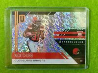 NICK CHUBB ROOKIE CARD PRIZM REFRACTOR RC BROWNS SP Flight 2018 UNPARALLELED 216