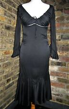 Alexander McQueen Black silk Top Fall 2002 Supercalifragilistic dress 42