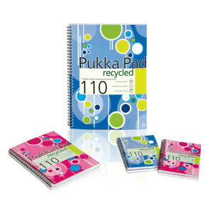 Pukka Pad A5 Recycled Pad Pink Blue 110Page RARE discontinuedBook School College