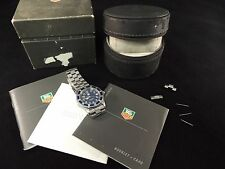 Tag Heuer Professional Sports Blue Face Watch WM1113 Watch, Case and Paperwork