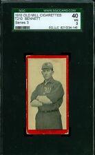1910 T210-3 Old Mill - Bennett - Waco (Texas League) - SGC 40