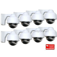 8x Dome Security Cameras Color CCD Outdoor IR Day Night Vision for Home DVR cre