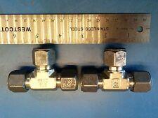 "Parker CPI 8-8-8-JBZ-SS 1/2"" Union Tee 8-8-8 JBZ-SS , Swagelok SS-810-3"