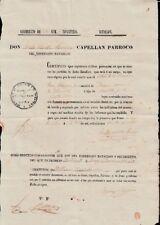 E845 SPAIN ESPAÑA ANTILLES SINGLE CERTIFICATE OF ARMY REG INFANTERIA SPAIN ESPAÑ