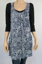 Polyester Paisley 3/4 Sleeve Tunic Tops & Blouses for Women