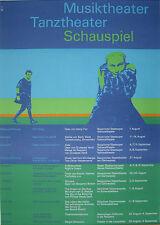 Poster Plakat - Tanz Musik Theater Schauspiel - Olympiade 1972 - Otl Aicher