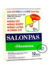 SALONPAS 24 Pain Relieving Patches Arthritis Muscle Pain Relief SUPER FAST SHIP