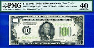 PMG POP 1/1 - 1934 $100 FRN (( 4-Digit - L.G.S. - STAR )) PMG XF-40 # B00004067*