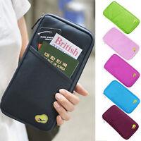 New Travel Passport Credit Card Cash Convenience Organizer Holder Bag Purse