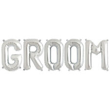 Party Supplies Silver 41cm Foil Letters Balloon 'GROOM' Wedding Engagment