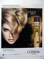 PUBLICITE-ADVERTISING :  L'OREAL Elnett Lumière  2014 Doutzen Kroes