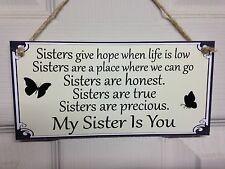Friend Friendship Plaque Sign funny gift Sister love family free P&P