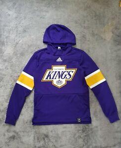 Men's Adidas NHL Los Angeles Kings Reverse Retro Pullover Hoodie Purple sz S/M
