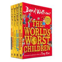 David Walliams World's Worst Children Collection 4 Books Set Pack