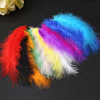 20/100 X Large Fluffy Turkey Feathers Card Making Crafts Embellishments 10-15cm