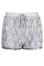 Womens High Waist Glitter Sequin Bling Tie Belt Drawstring Bead Hot Pants Shorts