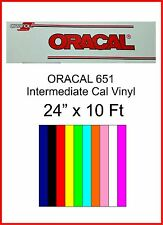 """24"""" x 10 Ft roll, Oracal 651 Sign Cutting Vinyl, Indoor/Outdoor w/ Perm Adhesive"""