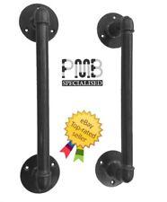 Two Steel Door Handles | Heavy Duty Pull Bars X2 | HANDMADE IN UK