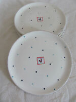 Matceramica Miss Daisy Blue Dots-Handmade in Portugal -Luncheon/Salad Plate(s)