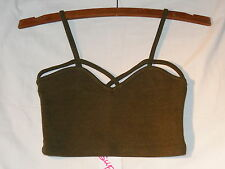Supre Ladies XS Olive Cut out Bralette - Crop Top