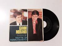 """Gianni Morandi - Notte Di Ferragosto-Disco Vinile 45 Giri 7"""" Stampa ITALIA 1966"""