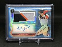 Mauricio Dubon 2020 Topps Triple Threads RC 3 Color Patch Auto 04/10 SF Giants