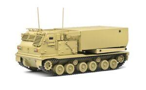 Solido S4800602 - 1/48 M270/A1 Rocket Launcher - Desert Camo 1977 Diecast Model