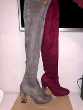 elegant faux suede over the knee boots Size UK 5
