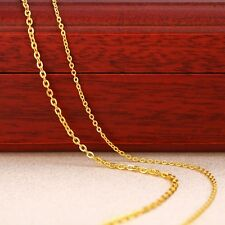 Best Fine 999 24K Yellow Gold Chain Necklace/Lucky Women's O Link Necklace/ 2g