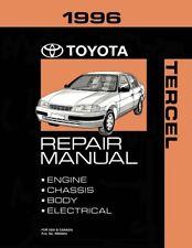 1996 Toyota Tercel Shop Service Repair Manual Book Engine Drivetrain Oem