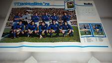 POSTER GIGANTE Argentina '78  Squadra Italia  / Italy   cm 70 50 circa