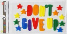 NEW Gel Window Cling Decor DON'T GIVE UP stars 21 pc Inspirational Motivational!