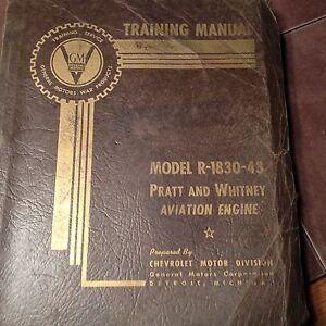1943 Pratt & Whitney R-1830-43 Service Training Manual