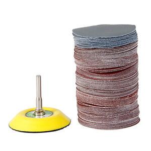 100PCS 3inch Hook&Loop Sander Sanding Discs Pads 80 to 3000 Grit Sandpapers